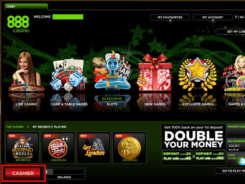 888カジノ出金方法