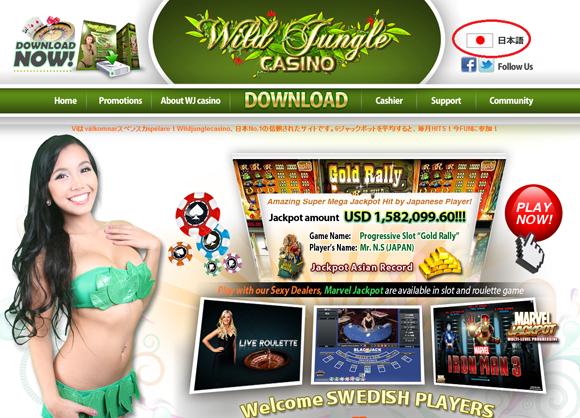 ワイルドジャングルカジノのサポート2