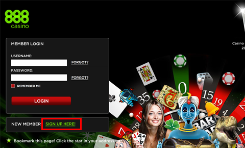 888カジノ口座開設方法
